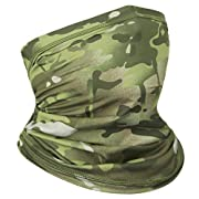 Achiou Neck Gaiter Face Mask Scarf Dust Sun Protection Cool Lightweight Windproof, Breathable Fishing Hiking Running…