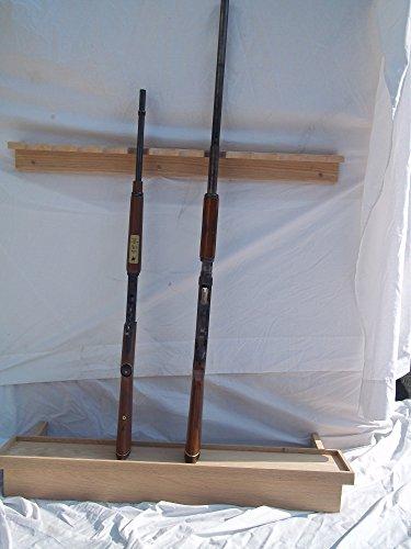 Oak Closet Gun Rack with Butt Rest
