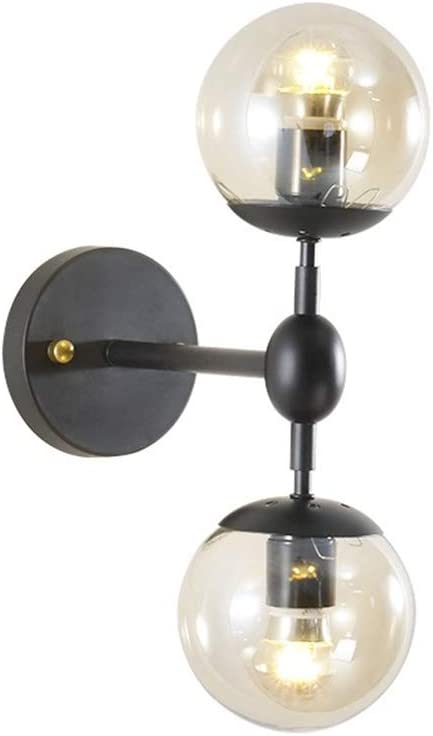 Starry Lighting SL-63434,2-Light Glass Wall Sconce,Simplicity Industrial Edison Antique Glass 2-Light Wall Sconces Wall Lamp
