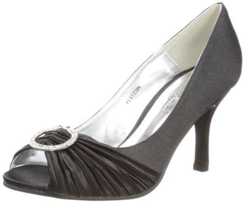 Lunar Flv132 - zapatos de tacón de material sintético mujer negro - negro