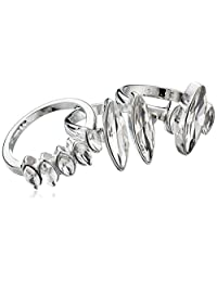 GUESS Women's Stacker Ring 3Pc Set, Silver, One Size