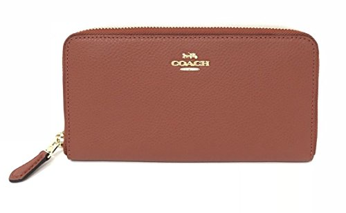 COACH F16612 ACCORDION PEBBLE LEATHER WALLET TERRACOTTA