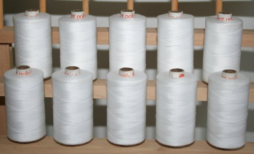 New ThreadNanny 10 Spools with 1100yds of 3-PLY Polyester Sewing Quilting Serger (3 Ply Sewing Thread)