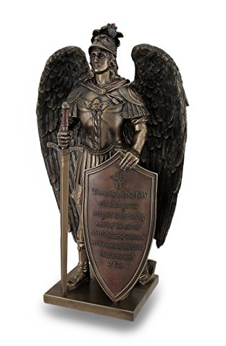 Take Up The Shield of Faith Warrior Angel Statue Bible -