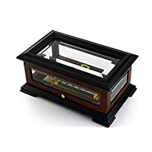 Handcrafted 72 Note Sankyo Beveled Glass Music Box with Sankyo 72 Note Tune-Piano Concerto No.2 Op.18 (S. Rachmaninoff) - 3 parts