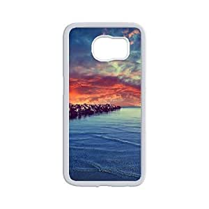 Diy Beautiful Landscapes Nature Phone Case for samsung galaxy s6 White Shell Phone JFLIFE(TM) [Pattern-2]