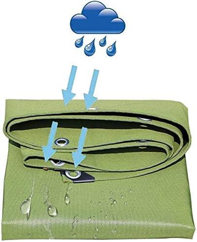 ヘビーデューティ多目的防水ポリターポリンPEタープ裏庭のテラスカバーUV耐性Backyaldカバー車の保護、木材、ボート、ガーデン、キャンプ、アウトドア1.9x2.8m (Color : Green, Size : 3.8x4.8m)