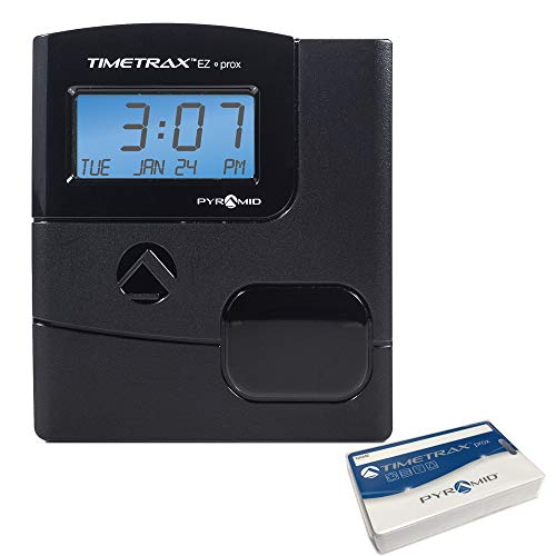 Pyramid TimeTrax TTEZ Prox (PPDLAUBKN) Automated Proximity Time Clock System with Software - Made in USA
