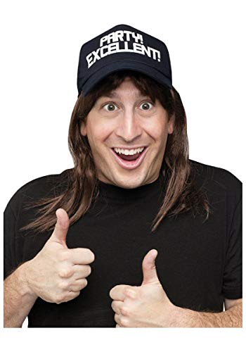 (Excellent! Wayne's World Wig and Hat Costume Accessory Kit)