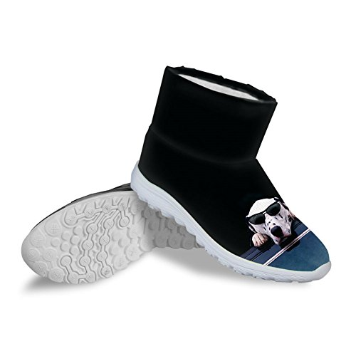Bigcardesigns Women's Ankle Snow Boots Dog Print Shoes Ca...