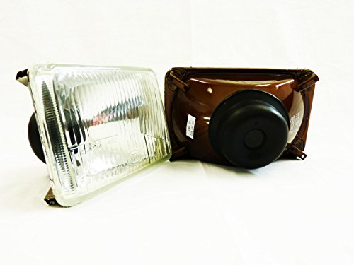 4x6 H4666 Headlights Sealed Beam Head Lamp Euro Glass Lens E-mark (Pack of 2)