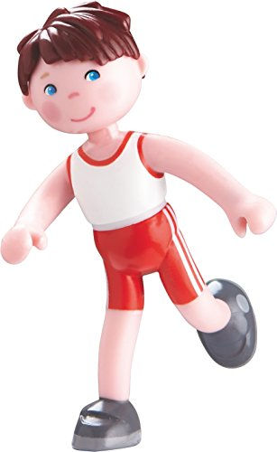 """HABA Little Friends Lukas - 4"""" Bendy Boy Figure with Brown Hair In Sporty Outfit"""