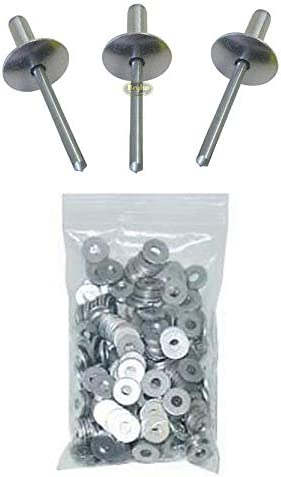 Large Head Black Exploding Rivets Pop Rivet 50ct Tri-Fold Racing Fasteners IMCA Bryke Fasteners