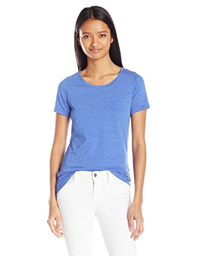 French Toast Women's Short Sleeve Crewneck Tee, Large - Princess Blue Heather