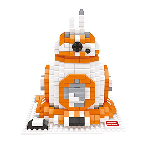 Wise Hawk Diamond Blocks Star Wars Nano Block 592 Piece Building Set BB-8