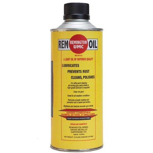 Rem 18002 100th Anniv REM OIL 1pt Historical Metal Bottle