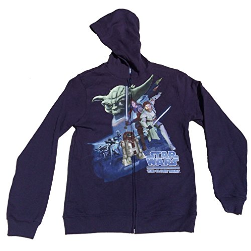 hot sell Star Wars Clone Wars Boys Full Zipper Hoodie Jacket get discount