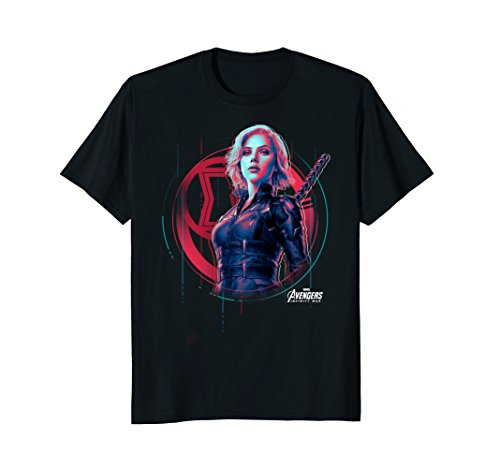 Marvel Infinity War Black Widow Icon Tech Graphic T-Shirt