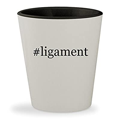 #ligament - Hashtag White Outer & Black Inner Ceramic 1.5oz Shot Glass
