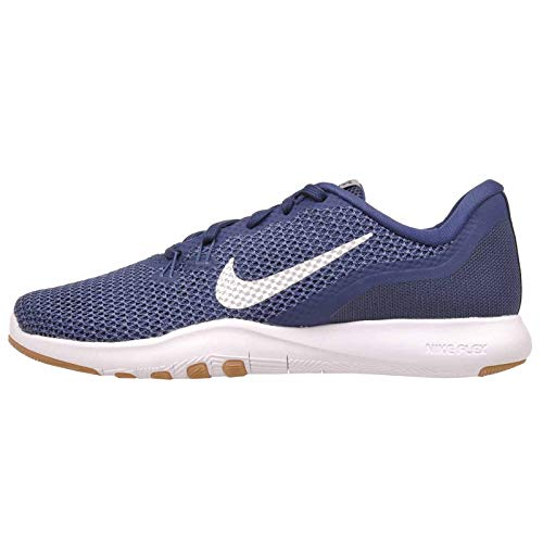 (Nike Women's Flex Trainer 7 Cross Trainers Navy/Metallic Silver Size 7)