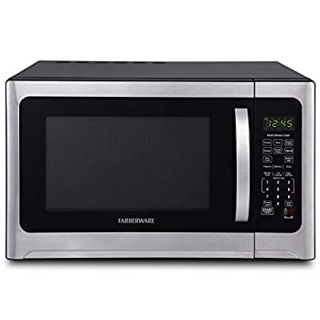 Image of Farberware Professional FMO12AHTBKE 1.2 Cu. Ft. 1100-Watt Microwave Oven With Smart Sensor Cooking and LED Lighting, Brushed Stainless Steel