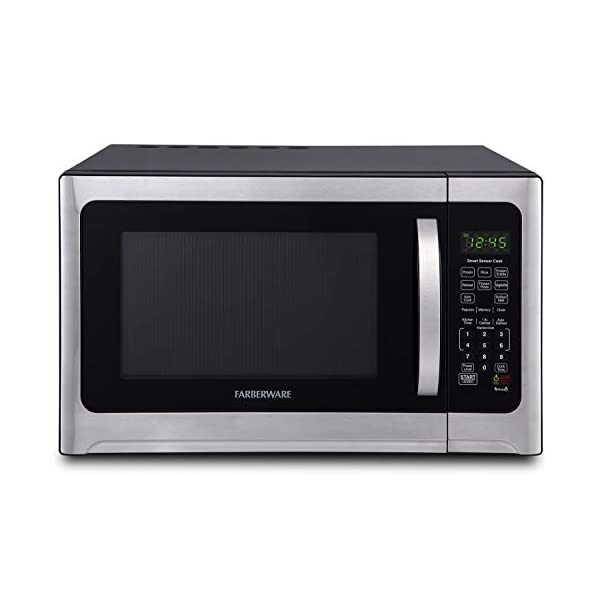 Farberware Professional FMO12AHTBKE 1.2 Cu. Ft. 1100-Watt Microwave Oven With Smart Sensor Cooking and LED Lighting… 1