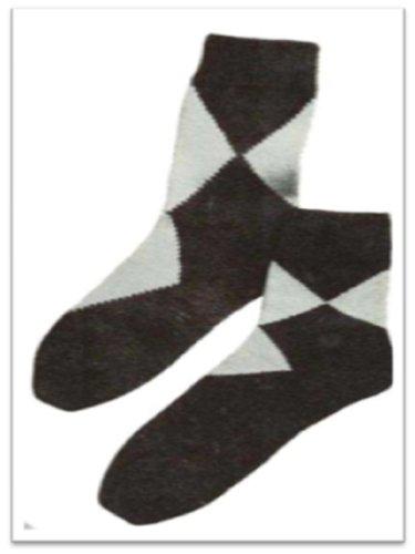 #1709 ARGYLE-TYPE ANKLETS VINTAGE KNITTING PATTERN (Argyle Anklet)