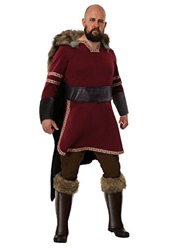 Men's Burgundy Viking Costume ()