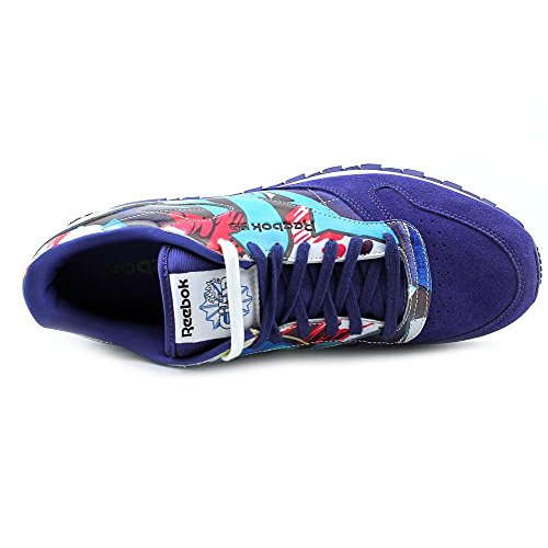 Reebok Mens CL LTHR R12 Lace-Up Fashion Sneaker New York City j8I1Prjsne