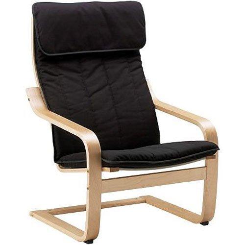 Amazon.com: Sillón de relax con cojín (Negro y marco de ...