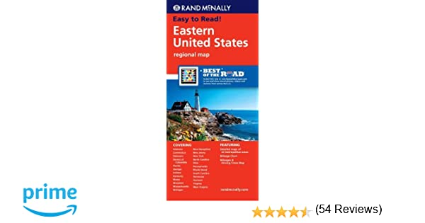Rand Mcnally Eastern United States Regional Map Learn To Sports Books Rand Mcnally 9780528881152 Amazon Com Books