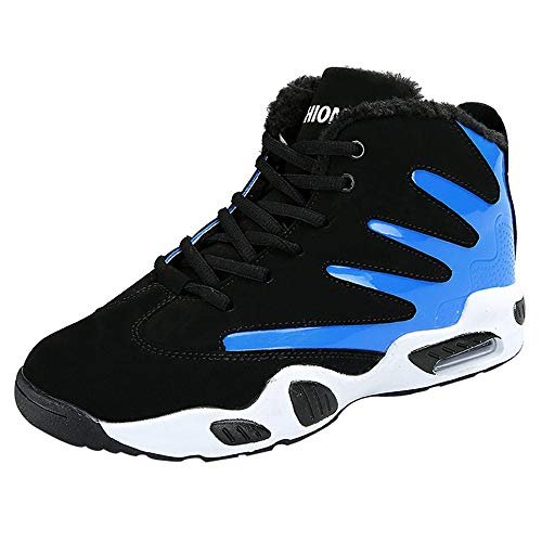 - HOSOME Men Outdoor Cotton Shoes Casual Lace Up Soft Bottom Basketball Sports Shoes Blue