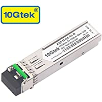 10Gtek for Cisco GLC-ZX-SMD, Gigabit SFP ZX Transceiver, 1000Base-ZX, SMF, 1550nm, 80km