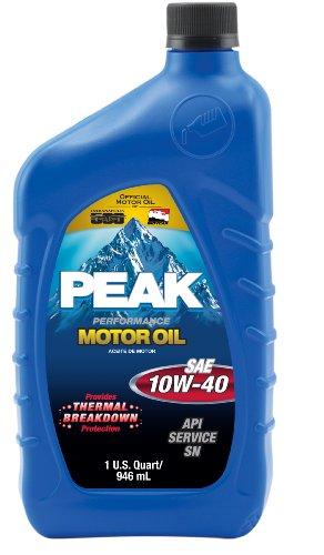 Peak P4M0176 SAE 10W-40 SL Multigrade Motor Oil - 1 Quart Bottle, (Case of 6)