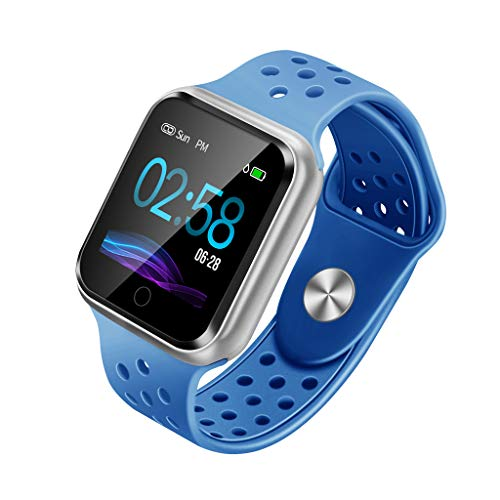 Fitness Health 2 in1 Smart Watch,Gunel Activity Tracker All-Day Heart Rate Blood Pressure Sleep Monitor Running Sports Watch Sport Tracker (Blue)