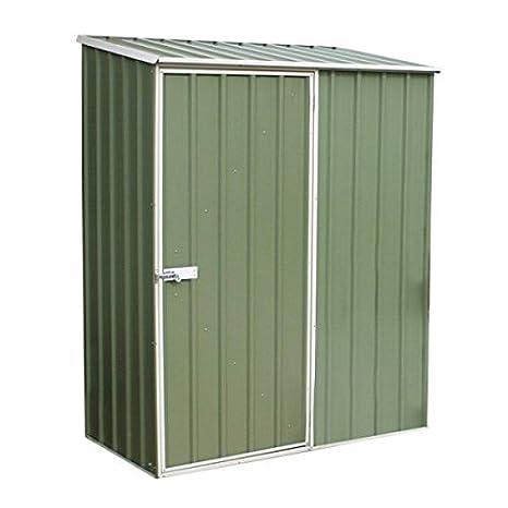 Nova 5 x 3 verde titanio Pent Metal cobertizo – barato cobertizos – Cobertizos