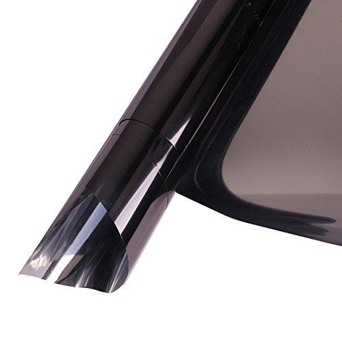 HOHO Static Reflective Solar Window Film Tint Stickers Anti UV Heat Control for Home Building Glass,Black,152cmx300cm by HOHO