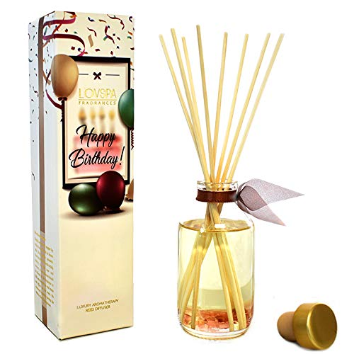 LOVSPA Chocolate Layer Cake Scented Oil Reed Diffuser | Limited Edition Birthday Gift!
