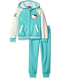 Hello Kitty girls Varsity Active Set With Lurex Rib and Print