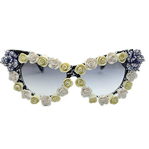 gato de agraciadas gafas UV Peggy Gafas mujeres playa ojos la hechas las a de para mano flor de a Gu sol de de de sol conducción mano protección verano de vacaciones de hechas la HIwBcxUq1w
