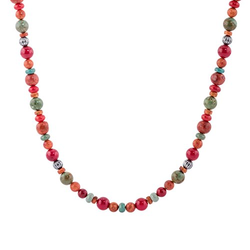 Earth Beaded Necklace - American West Multicolor Beaded Necklace - Earth Spirit Collection