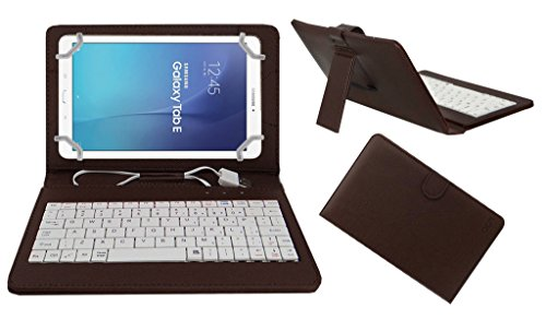 Acm USB Keyboard Case Compatible with Samsung Galaxy Tab E Sm T561 Tablet Cover StandStudy Gaming Direct Plug   Play   Brown