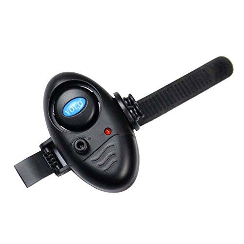 Eshoo fishing bite alarm electronic led sound alert bell for Bite alert fishing pole