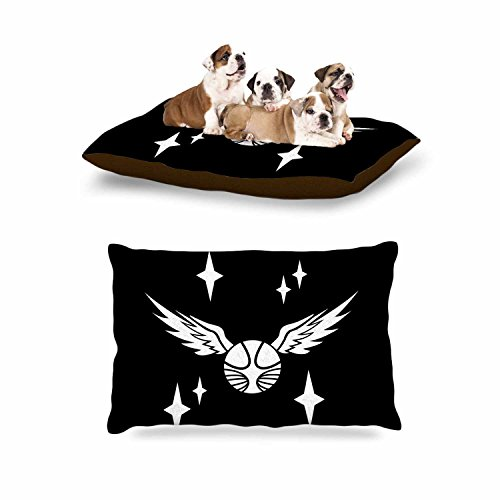 KESS InHouse Jackie Rose ''Golden Snitch'' Black Fantasy Dog Bed, 30'' x 40'' by Kess InHouse