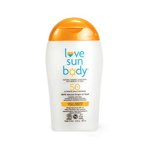 Love Sun Body 100% Natural Origin Mineral Sunscreen SPF 50 Lightly Scented 3.38 oz - 100 ml Cosmos Natural