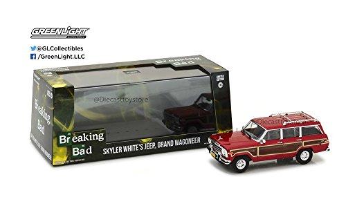 1:43 HOLLYWOOD - BREAKING BAD 2008-13 TV SERIES -JEEP GRAND WAGONEER SKYLER WHITE 86499 BY GREENLIGHT - Jeep Wagoneer Toy