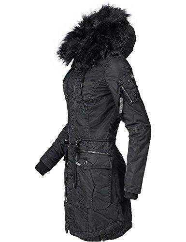 Khujo Veste pour Parka Noir 4 Halle d'hiver Couleurs XS Dame XXL wraqw1R