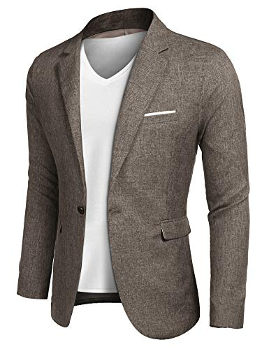- COOFANDY Mens Cotton Casual Lapel Blazer Jacket Lightweight Sport Coat