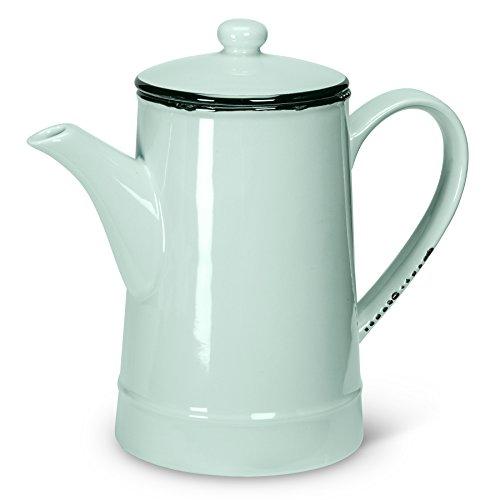 Abbott Collection Enamel Look Stoneware Teapot, Green (Tall)