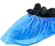 Auch 100 Pack (50 Pairs) Disposable Shoe Covers, Durable Waterproof & Anti-Slip Boot Covers for Home Offic